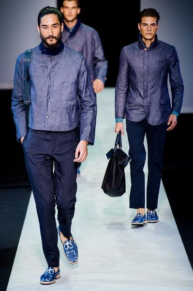 Мужская коллекция Giorgio Armani сезона весна-лето 2014