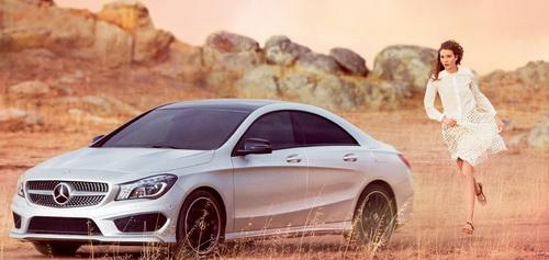 Карли Клосс и новый CLA в рекламной кампании Mercedes-Benz Fashion Week