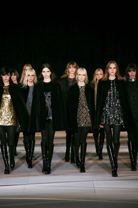 Saint Laurent - женская коллекция одежды осень 2014