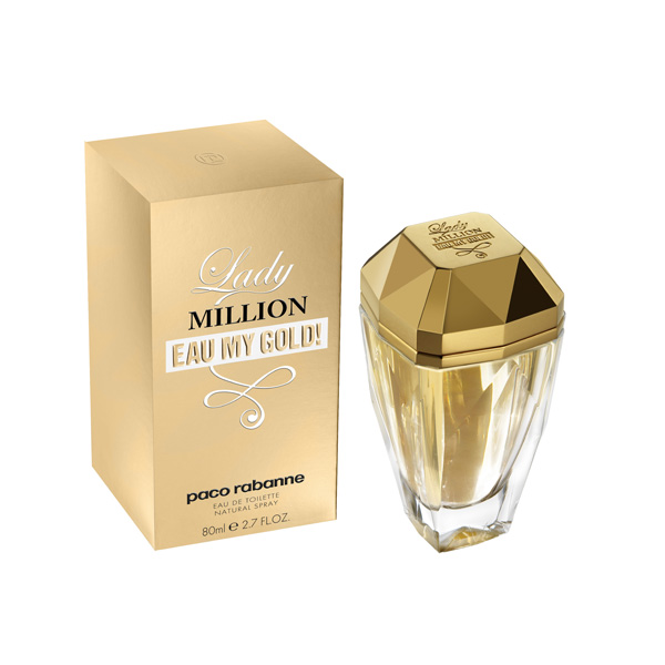 Lady Million Eau My Gold - новое парфюмерное творение от Paco Rabanne