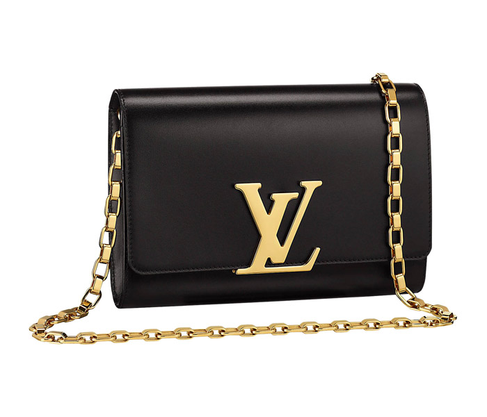 Сумка Louis Vuitton Chain Louise MM Noir