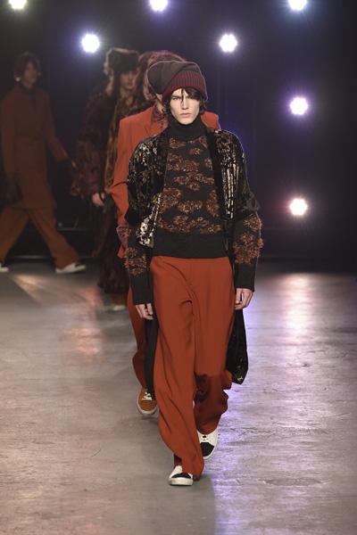 Показ мужской коллекции Topman Design на Неделе моды в Лондоне