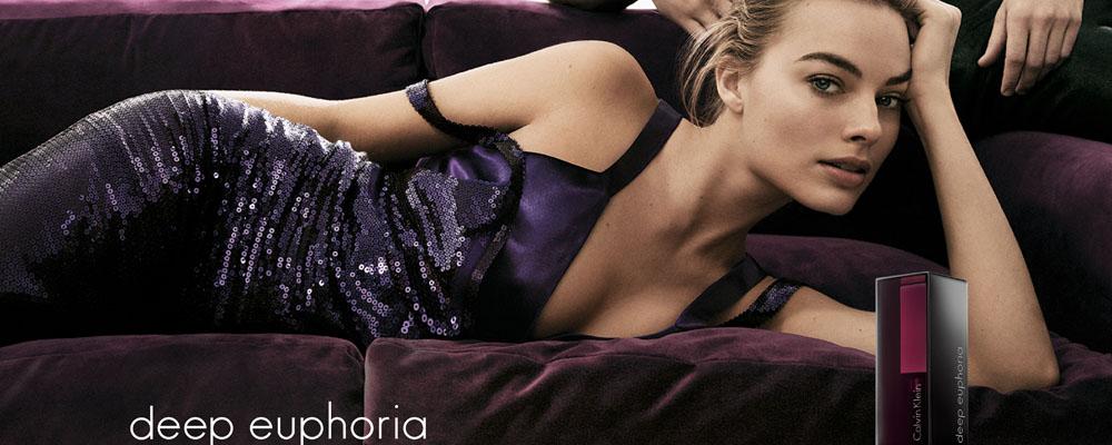 Марго Робби в рекламной кампании deep euphoria Calvin Klein