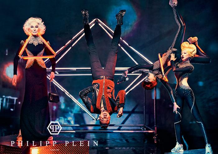 Неоновый мир будущего в рекламной кампании Philipp Plein