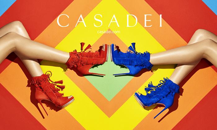 Яркие краски весны в новой коллекции обуви Casadei