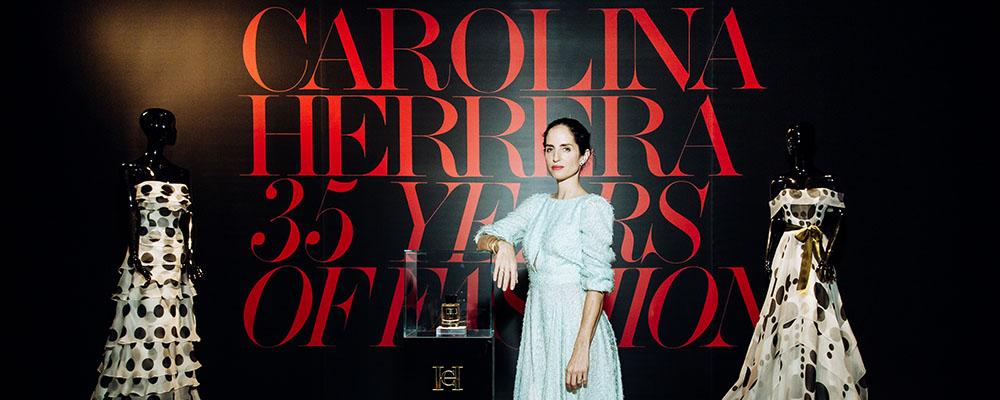 Открытие выставки в честь 35-летного юбилея Модного Дома Carolina Herrera