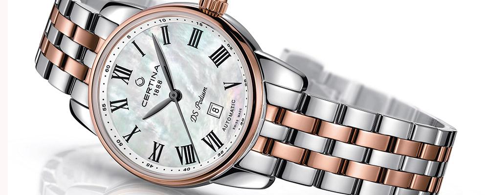 Женские часы CERTINA DS Podium Lady Automatic из розового золота