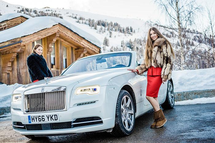 Тест-драйв Rolls-Royce в Куршевеле