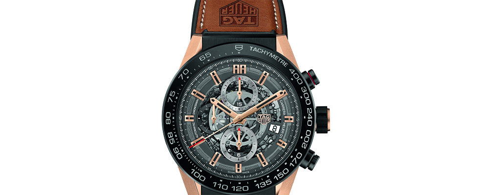 Новый хронограф TAG Heuer CARRERA HEUER-01 Rose Gold