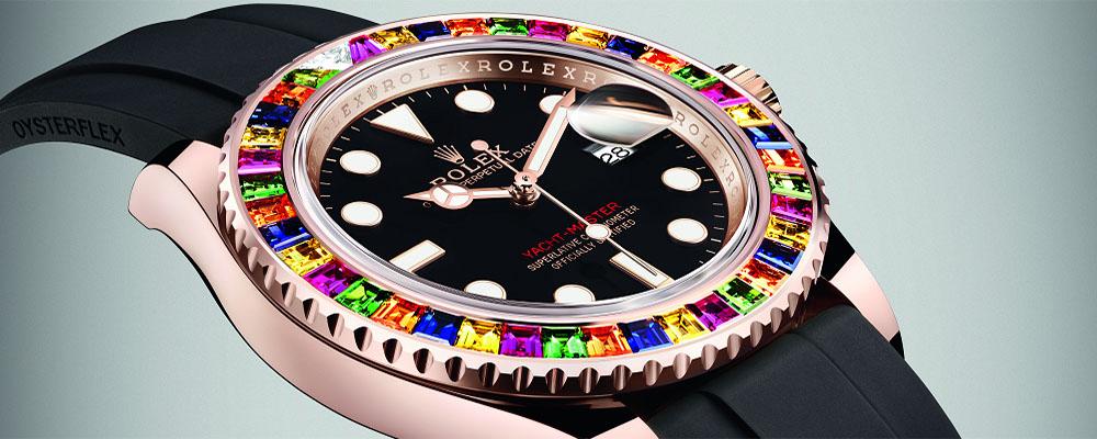 Часы Rolex Yacht-Master 40 Candy с разноцветными сапфирами и цаворитами